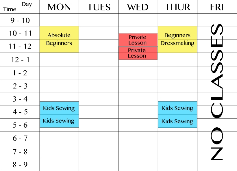 Class Timetables
